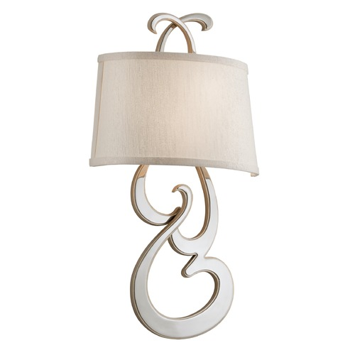 Corbett Lighting Corbett Lighting Day Dream Polished Nickel Finish with Champagne Leaf Accents Sconce 172-12