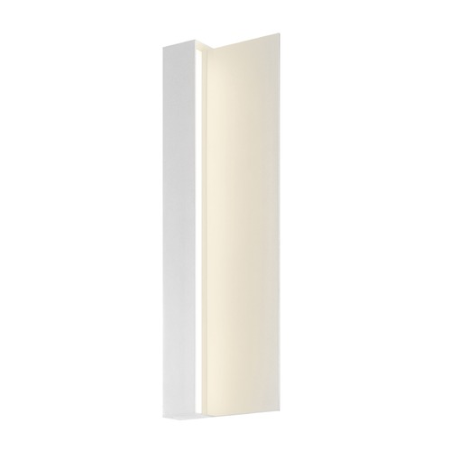 Sonneman Lighting Sonneman Radiance Textured White LED Outdoor Wall Light 7250.98-WL