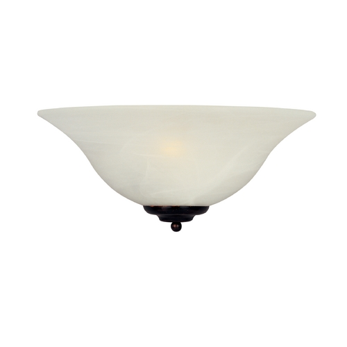 Maxim Lighting Sconce Wall Light with White Glass in Oil Rubbed Bronze Finish 20582MROI