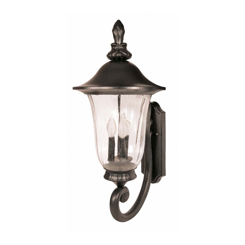 Nuvo Lighting Outdoor Wall Light with Clear Glass in Textured Black Finish 60/978