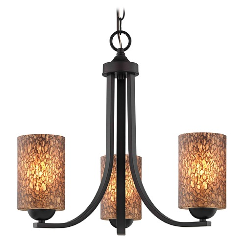 Design Classics Lighting Design Classics Dalton Fuse Neuvelle Bronze Mini-Chandelier 5843-220 GL1016C