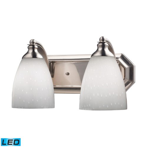 Elk Lighting Elk Lighting Bath and Spa Satin Nickel LED Bathroom Light 570-2N-WH-LED