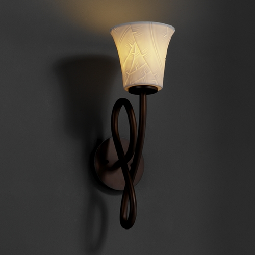 Justice Design Group Justice Design Group Limoges Collection Sconce POR-8911-20-BANL-DBRZ