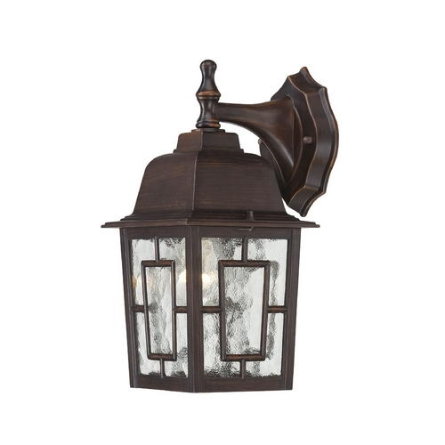 Nuvo Lighting Outdoor Wall Light with Clear Glass in Rustic Bronze Finish 60/4922