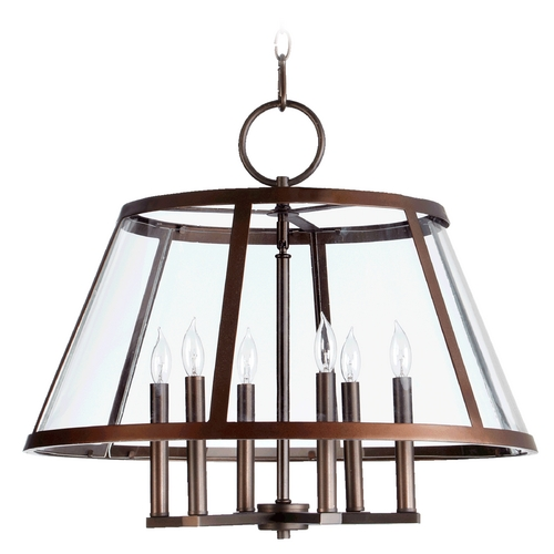 Quorum Lighting Quorum Lighting Kaufmann Oiled Bronze Chandelier 6404-6-86