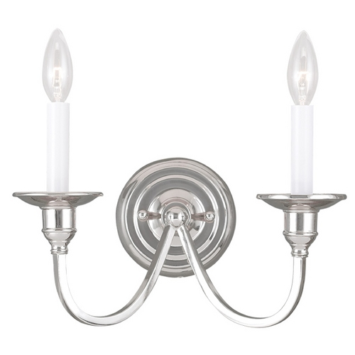 Livex Lighting Livex Lighting Cranford Polished Nickel Sconce 5142-35