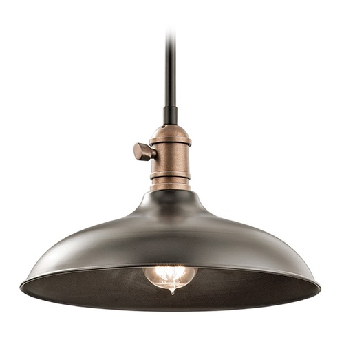 Kichler Lighting Kichler Lighting Cobson Pendant Light with Bowl / Dome Shade 42580OZ