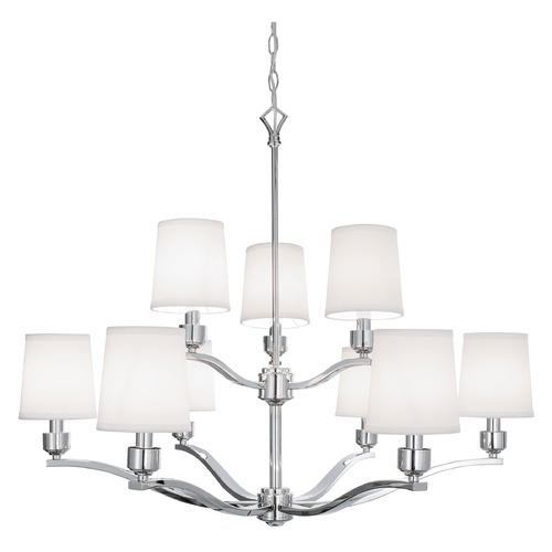 Norwell Lighting Norwell Lighting Roule Polished Nickel Chandelier 5619-PN-WS