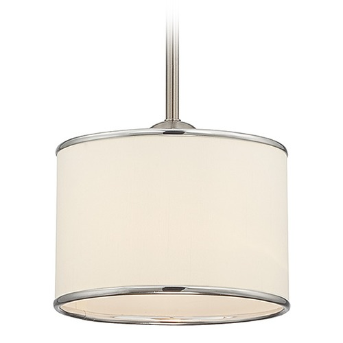 Savoy House Savoy House Satin Nickel Mini-Pendant Light with Drum Shade 7-1503-1-SN