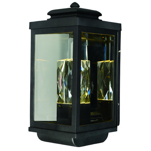Maxim Lighting Maxim Lighting Mandeville Galaxy Black LED Outdoor Wall Light 53524CLGBK