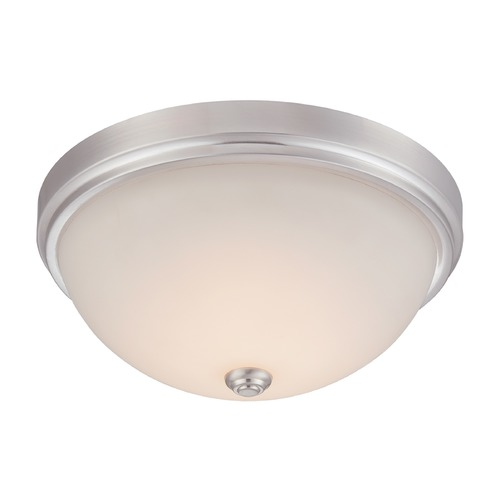 Designers Fountain Lighting Designers Fountain Hopkins Satin Platinum LED Flushmount Light LED302L-SP