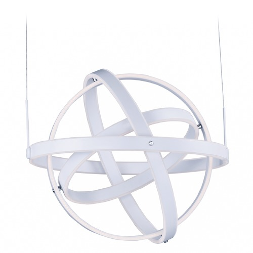 ET2 Lighting Gyro LED Matte White LED Pendant Light E24584-MW