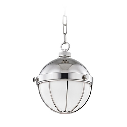 Hudson Valley Lighting Hudson Valley Lighting Sumner Polished Nickel Mini-Pendant Light with Bowl / Dome Shade 2309-PN