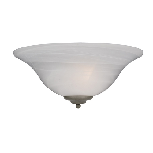 Maxim Lighting Sconce Wall Light with White Glass in Pewter Finish 20582MRPE