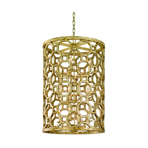 Corbett Lighting Modern Mini-Pendant Light with Silver Cage Shades 104-712