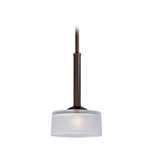 Maxim Lighting Modern Mini-Pendant Light with White Glass 91045FTOI