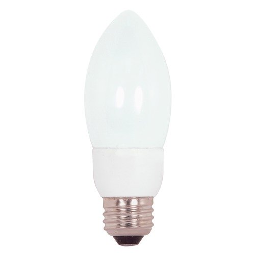 Satco Lighting Compact Fluorescent Torpedo Light Bulb Medium Base 2700K 120V by Satco Lighting S7328