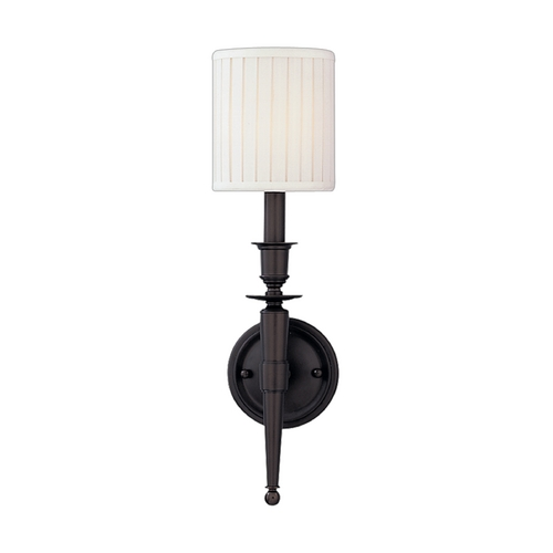 Hudson Valley Lighting Sconce Wall Light with White Shade in Old Bronze Finish 4901-OB