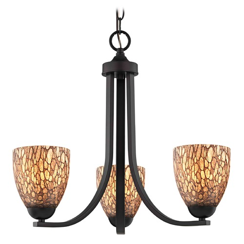 Design Classics Lighting Bronze Mini-Chandelier 5843-220 GL1016MB