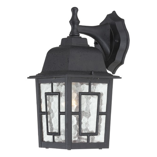 Nuvo Lighting Outdoor Wall Light with Clear Glass in Textured Black Finish 60/4923