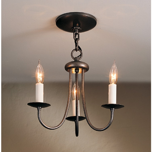 Hubbardton Forge Lighting Hubbardton Forge Lighting Simple Lines Natural Iron Mini-Chandelier 101130-20-CTO