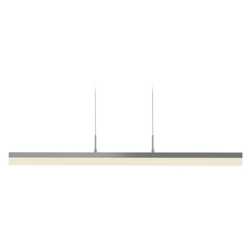 Sonneman Lighting Sonneman Lighting Stiletto Bright Satin Aluminum LED Pendant Light with Rectangle Shade 2346.16