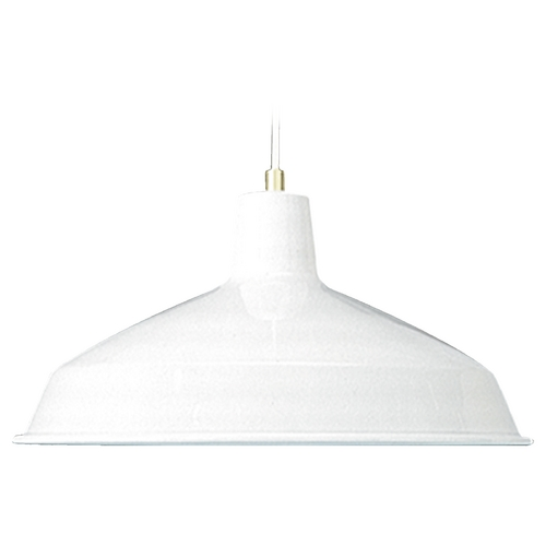 Quorum Lighting Quorum Lighting White Pendant Light with Bowl / Dome Shade 6822-6