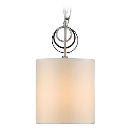 Golden Lighting Golden Lighting Danica Chrome Mini-Pendant Light with Cylindrical Shade 5050-M1L CH