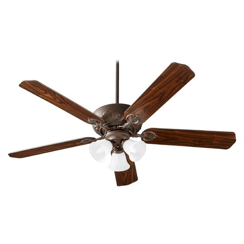 Quorum Lighting Quorum Lighting Chateaux Uni-Pack Oiled Bronze Ceiling Fan with Light 78605-1686