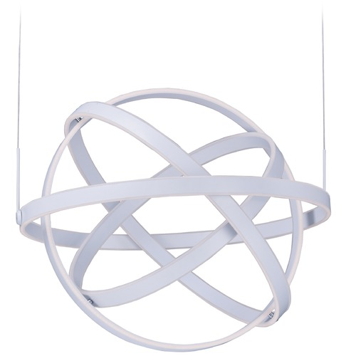 ET2 Lighting Gyro LED Matte White LED Pendant Light E24586-MW