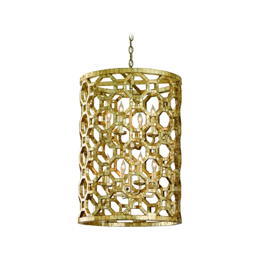 Corbett Lighting Modern Mini-Pendant Light with Silver Cage Shades 104-78