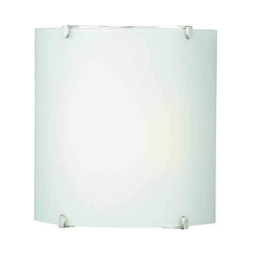 Philips Lighting Modern Sconce with White Glass in Satin Nickel Finish F546436U