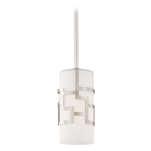 George Kovacs Lighting Modern Mini-Pendant Light with White Glass P196-084
