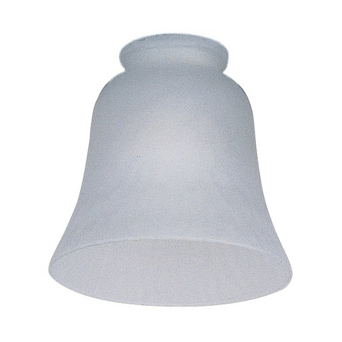 Monte Carlo Fans White Bell Glass Shade - 2-1/4-Inch Fitter Opening G1014