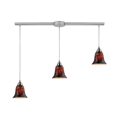 Elk Lighting Modern Multi-Light Pendant Light with Multi-Color Glass and 3-Lights 31130/3L-FDG