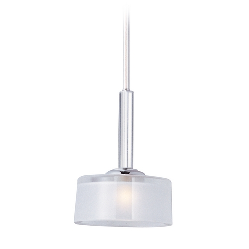 Maxim Lighting Maxim Lighting Elle Chrome Mini-Pendant Light with Drum Shade 91045FTPC