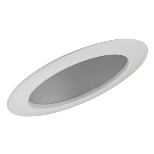 Recesso Lighting by Dolan Designs Clear Sloped Reflector Trim for 6-Inch Recessed Cans T660C-WH