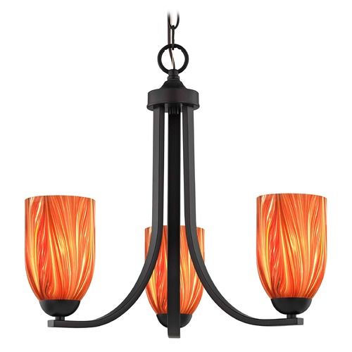 Design Classics Lighting Design Classics Dalton Fuse Neuvelle Bronze Mini-Chandelier 5843-220 GL1017D