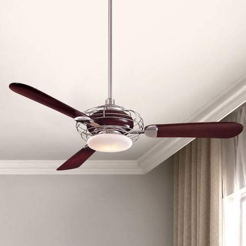 Minka Aire 52-Inch Ceiling Fan with Three Blades and Light Kit F601-BS/MG
