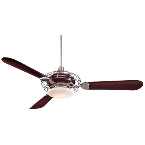 Minka Aire Ceiling Fan with Three Blades and Light Kit F601-BS/MG