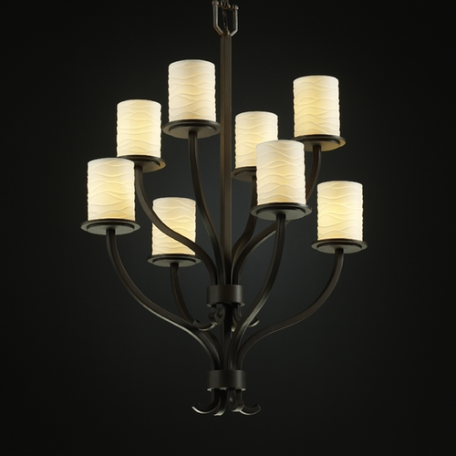 Justice Design Group Justice Design Group Limoges Collection Chandelier POR-8788-10-WAVE-DBRZ