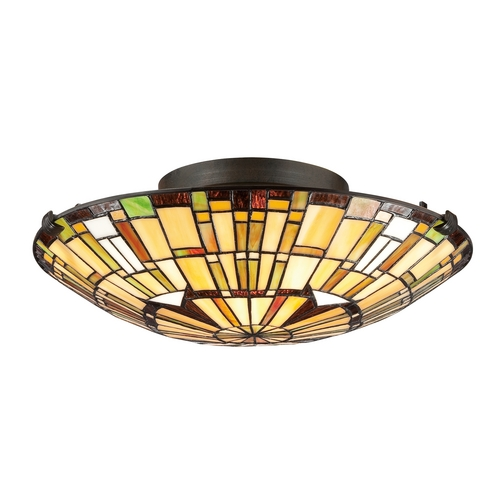 Quoizel Lighting Tiffany Ceiling Light in Bronze Finish TF1408SVB