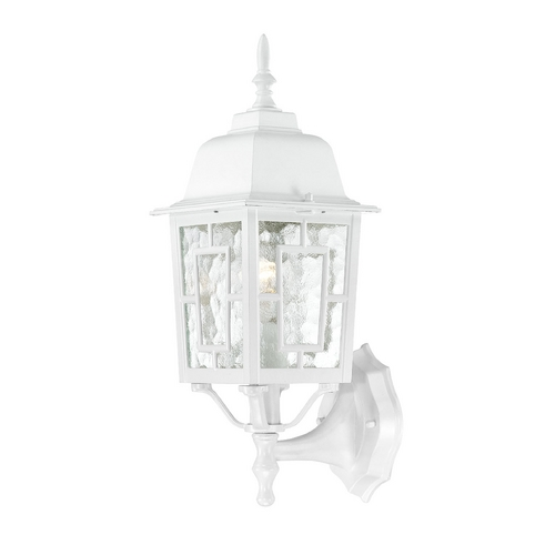 Nuvo Lighting Outdoor Wall Light with Clear Glass in White Finish 60/4924