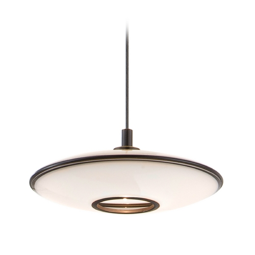 Holtkoetter Lighting Holtkoetter Modern Low Voltage Mini-Pendant Light with White Glass C8120 S006 GB20 HBOB