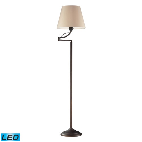 Dimond Lighting Dimond Lighting Aged Bronze LED Swing Arm Lamp with Empire Shade 17027/1-LED