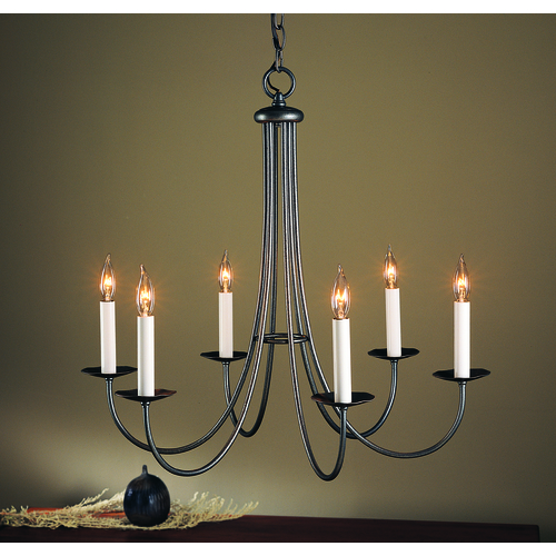 Hubbardton Forge Lighting Hubbardton Forge Lighting Simple Lines Natural Iron Chandelier 101160-20-CTO