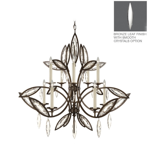 Fine Art Lamps Fine Art Lamps Marquise Antique Hand Rubbed Bronze Crystal Chandelier 844140-31ST