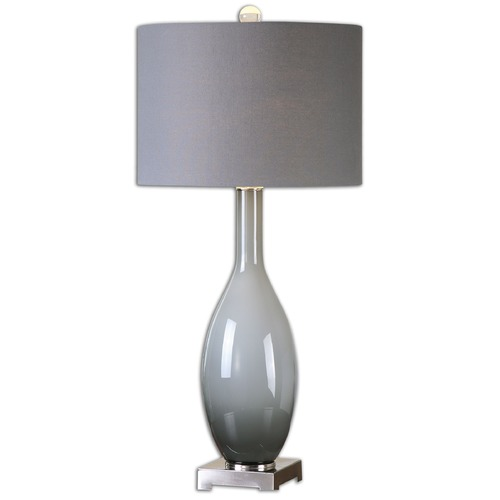 Uttermost Lighting Uttermost Vallo Smoke Gray Glass Lamp 26180