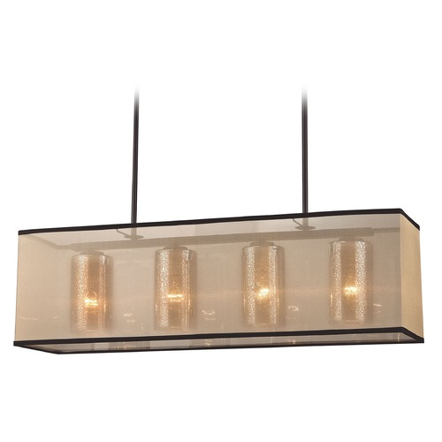 Elk Lighting Elk Lighting Diffusion Oil Rubbed Bronze Island Light with Rectangle Shade 57028/4