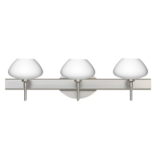 Besa Lighting Besa Lighting Peri Satin Nickel LED Bathroom Light 3SW-541007-LED-SN